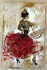 Flamenco Dancer Flamenco dancer with fan painting